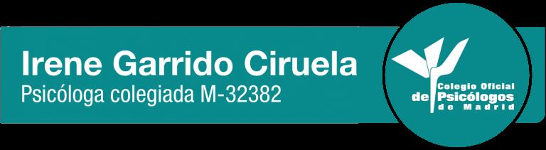 Logo psicologa colegiada Irene Garrido Ciruela